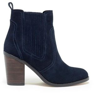 Sole Society - Harbor Navy Blue Suede Ankle Boots